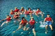 snorkeling in bali is fun for everybody