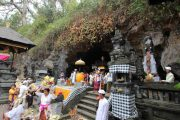 the ancient Balinese bat temple